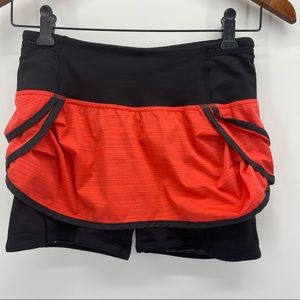 Lululemon Run Speed Squad Skirt Shorts